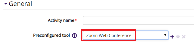 Zoom web conference - non snap moodle external tool