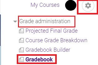 other gradebook settings select