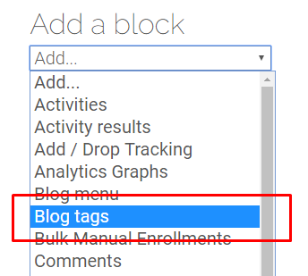 Blog Tags option