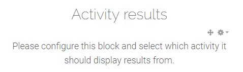 Activity results block empty