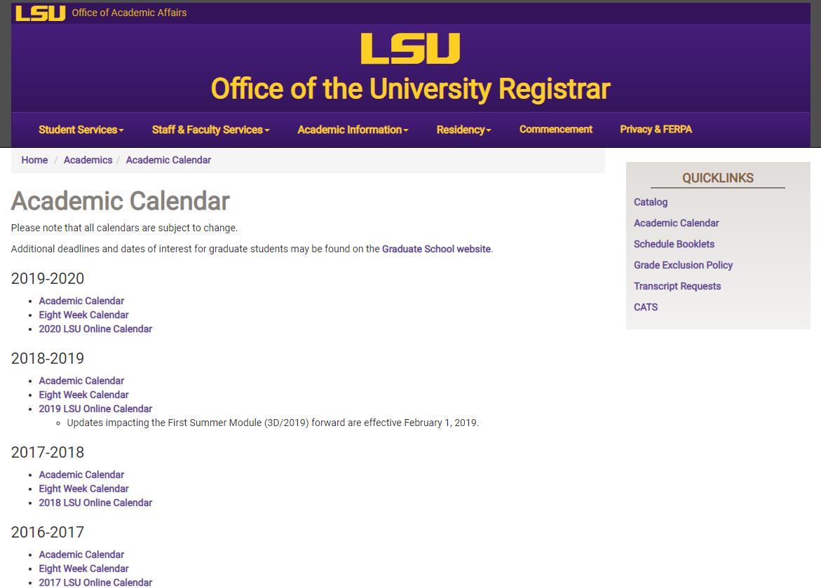Lsu 2022 Academic Calendar.Mylsu Portal Academic Calendar Grok Knowledge Base