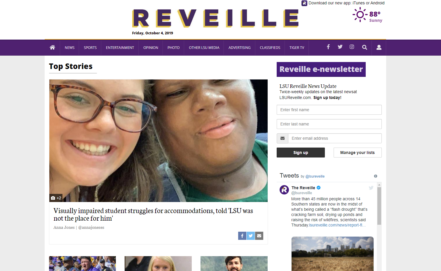 Daily Reveille official website