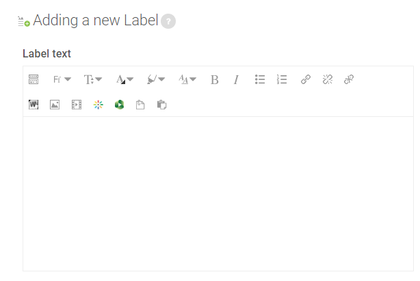 general settings for label resources