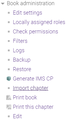 Import Chapter button.