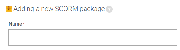 title box in SCORM package settings