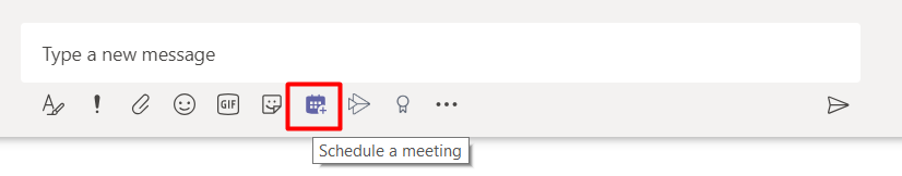 Schedule a meeting button below chat box